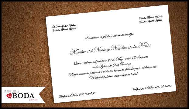 invitación de boda clásica gratis para descargar