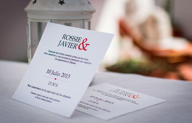 Invitación de boda para imprimir gratis