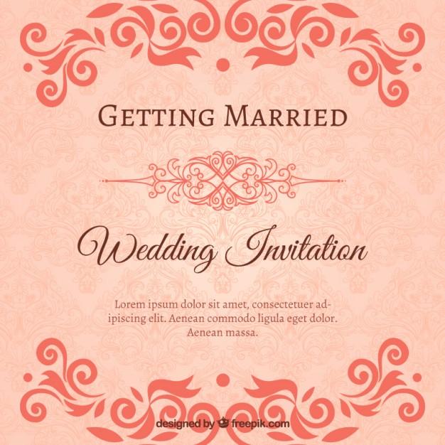 Invitaciones ornamentales de boda