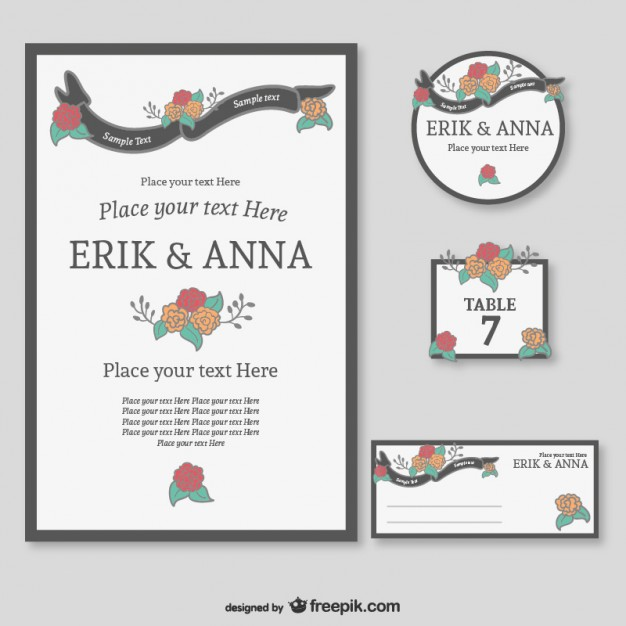 Pack de gráficos de boda