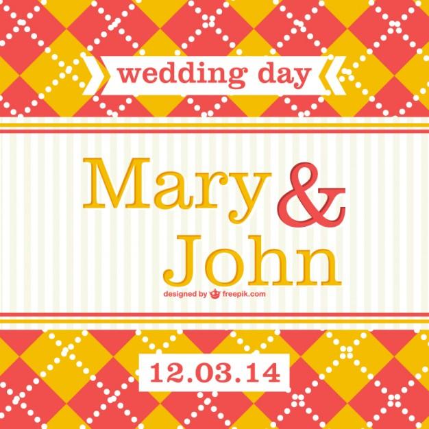 Plantilla de tarjeta de boda en dos colores