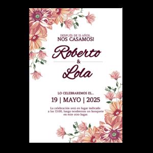 invitacion de boda con flores