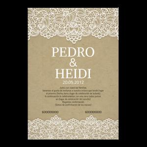 invitación de boda retro vintage papel
