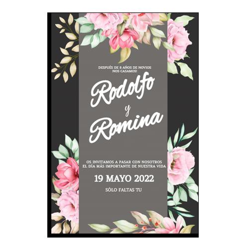 diseño de tarjeta para boda civil